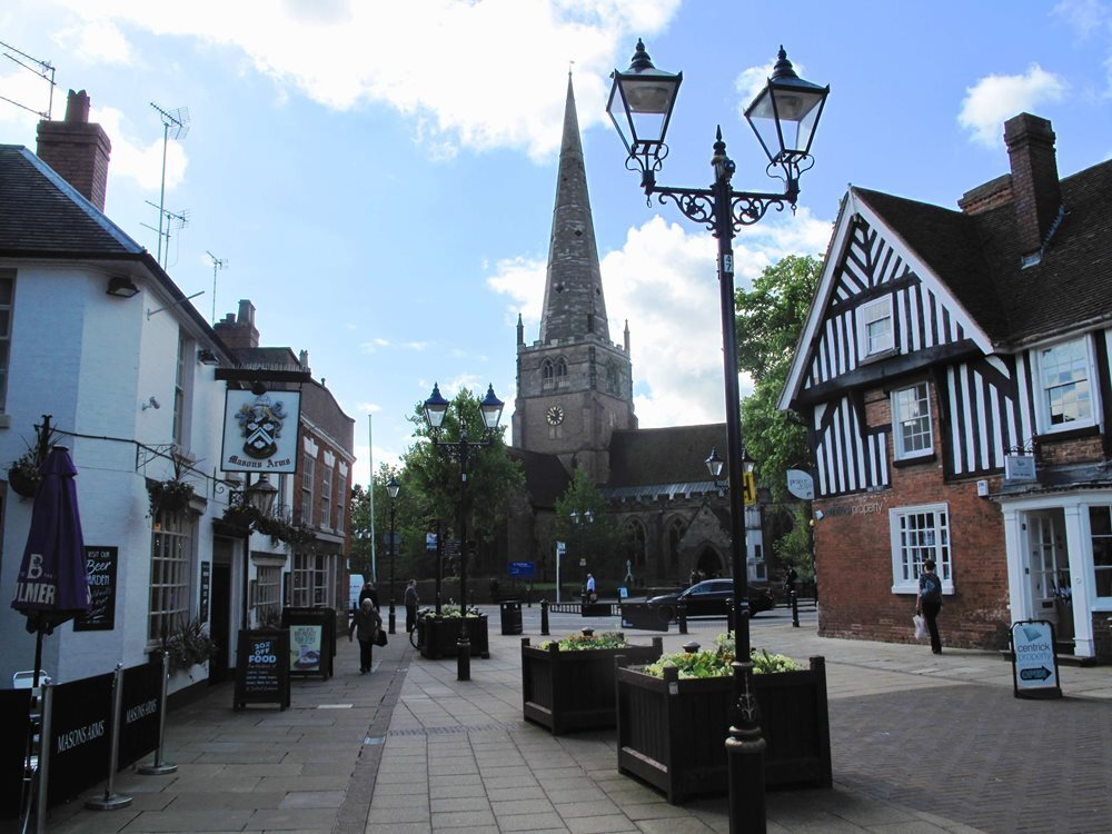 Solihull High Street and St Alphege Church