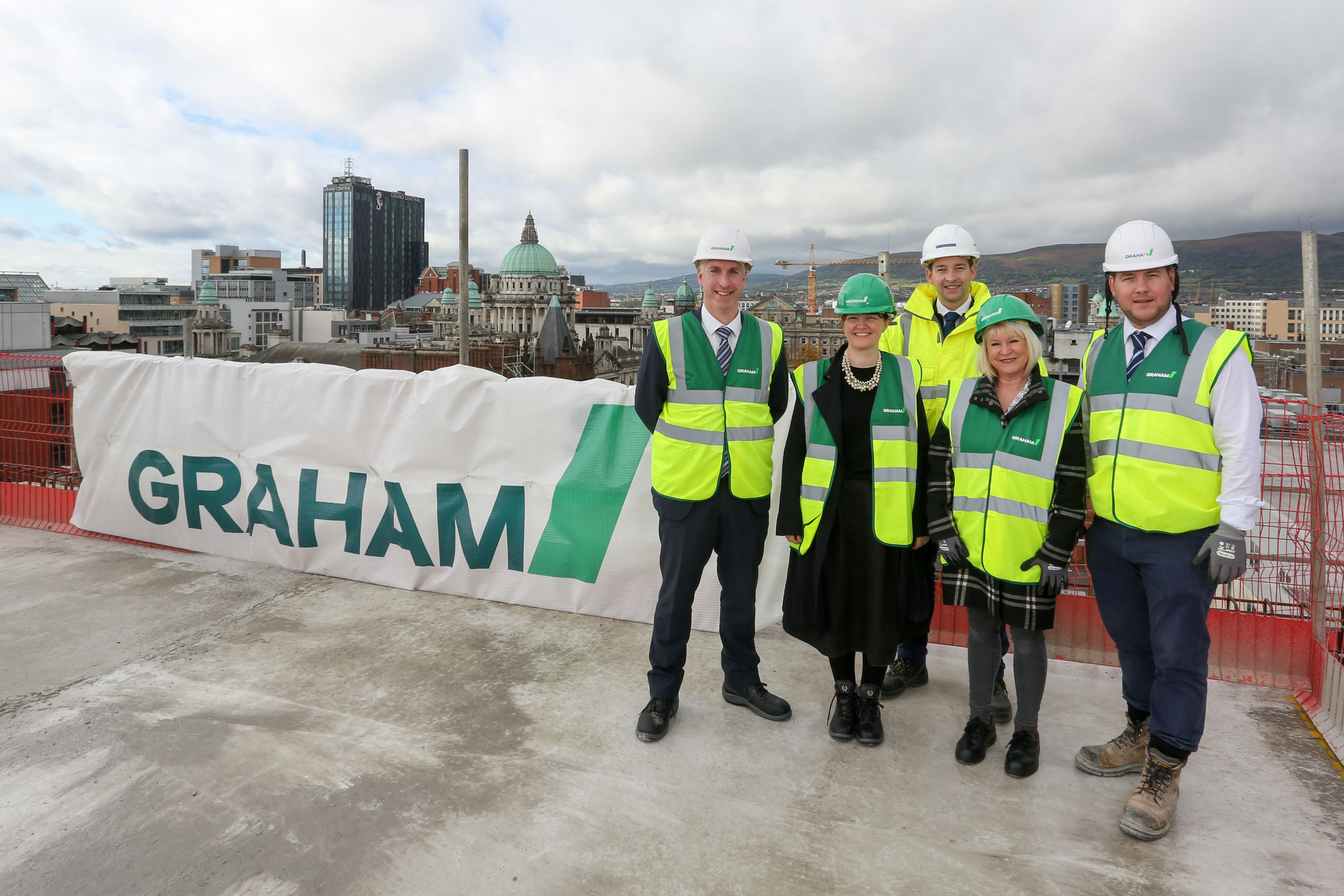 Erskine House development in Belfast reaches the top image