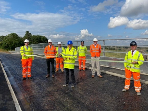 A120 Little Hadham bypass scheme celebrates a key milestone with the opening of Mill Mound Bridge image