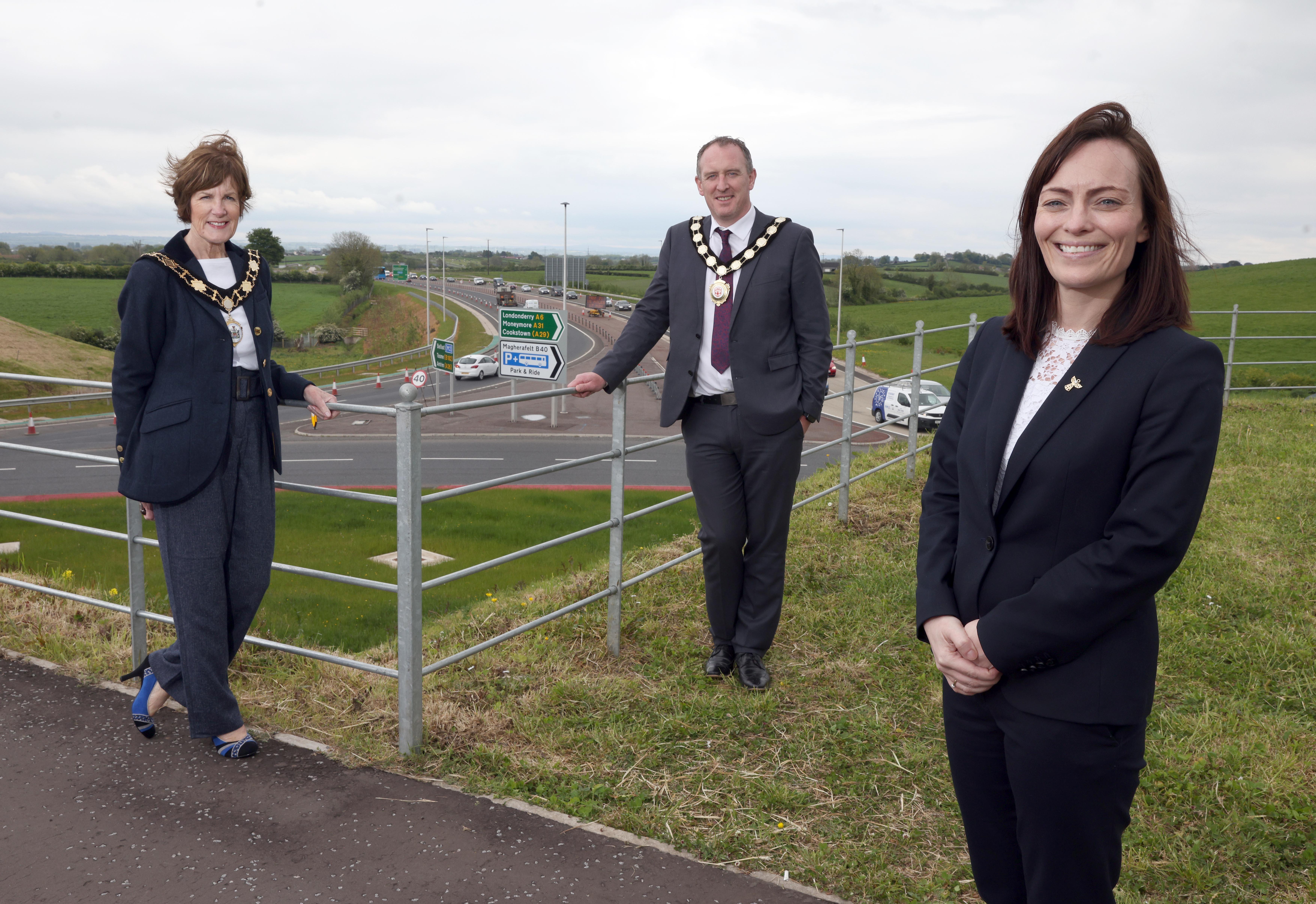 Mallon opens £189million A6 Randalstown to Castledawson Dualling Scheme image