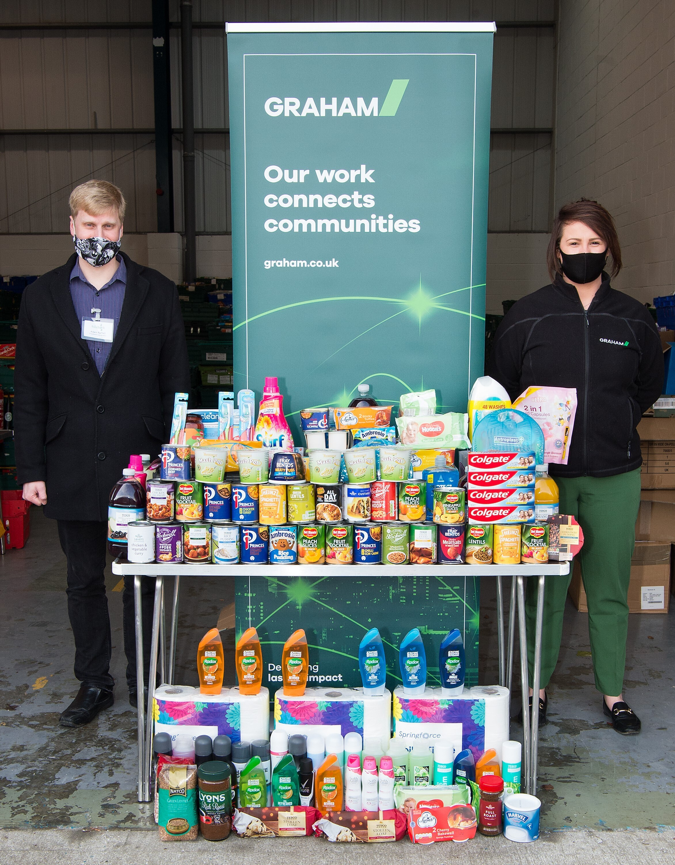 GRAHAM SUPPORTS YORK FOODBANK WITH DONATIONS image