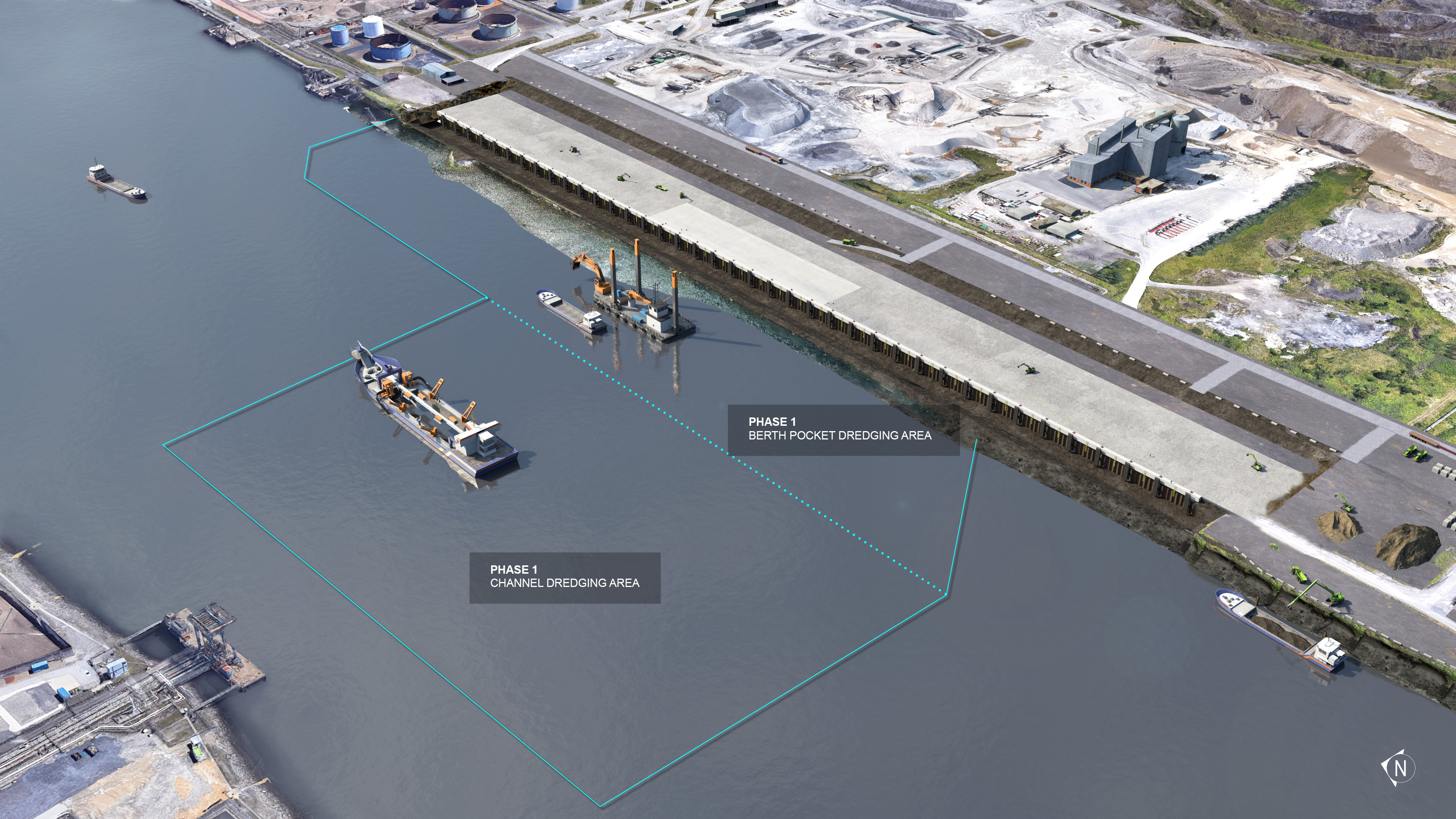 6.CGI of dredging overview of South Bank Quay