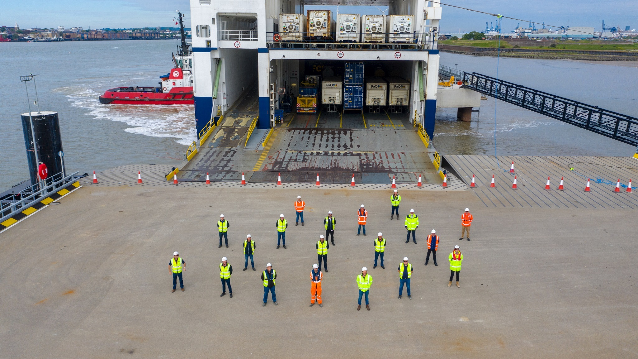 New freight ferry port passes dress rehearsal image