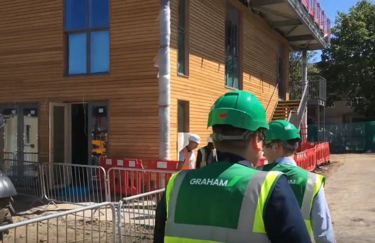 Tarling Road Community Centre tops out image