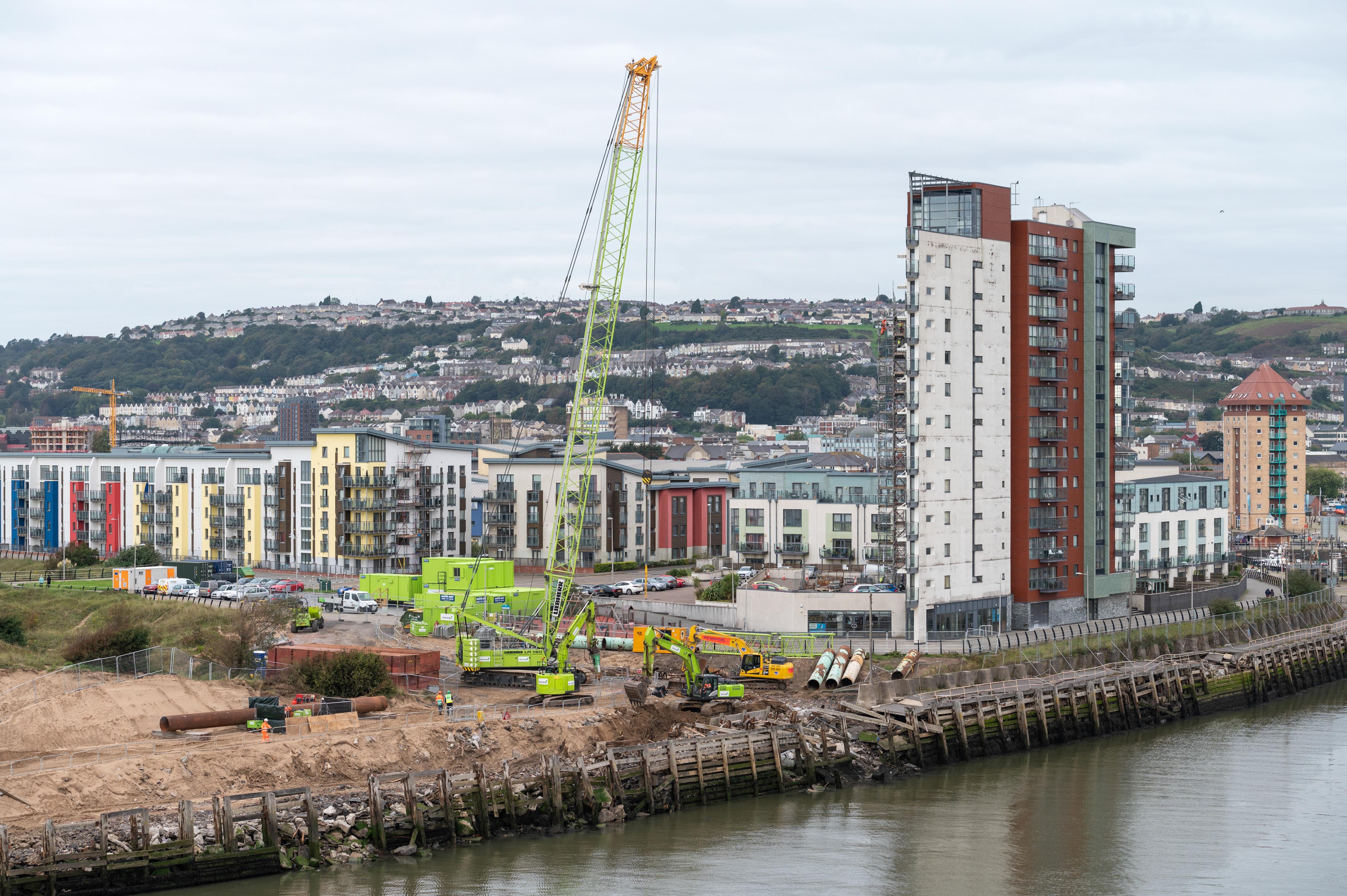 Construction begins on £10m Swansea West Pier repair image