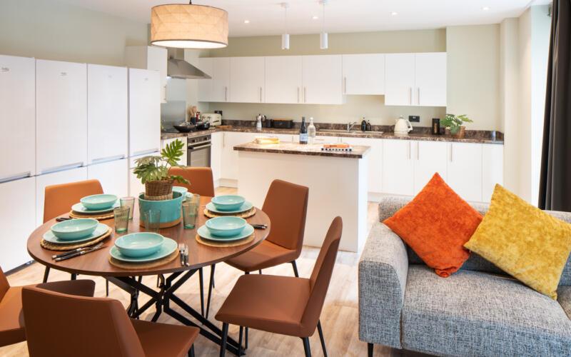 LIV Belfast Kitchen Living Area