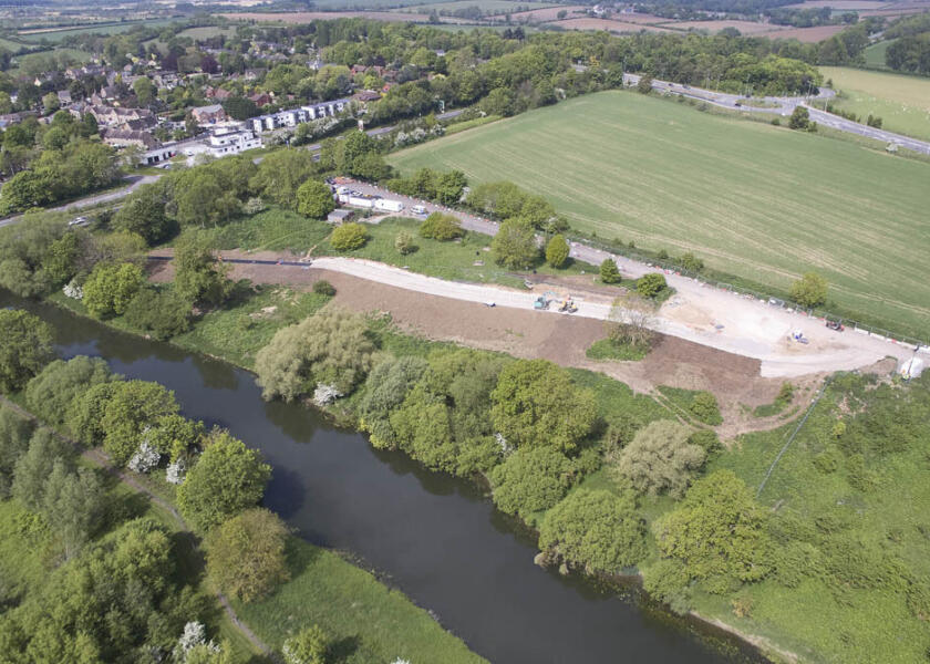 Work progressing at Wansford Picnic Area Enhancement Scheme