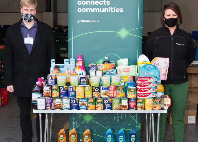 GRAHAM SUPPORTS YORK FOODBANK WITH DONATIONS