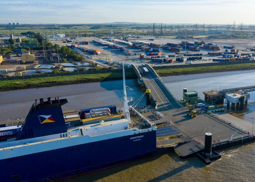 Unaccompanied freight ferry terminal open for business in Tilbury
