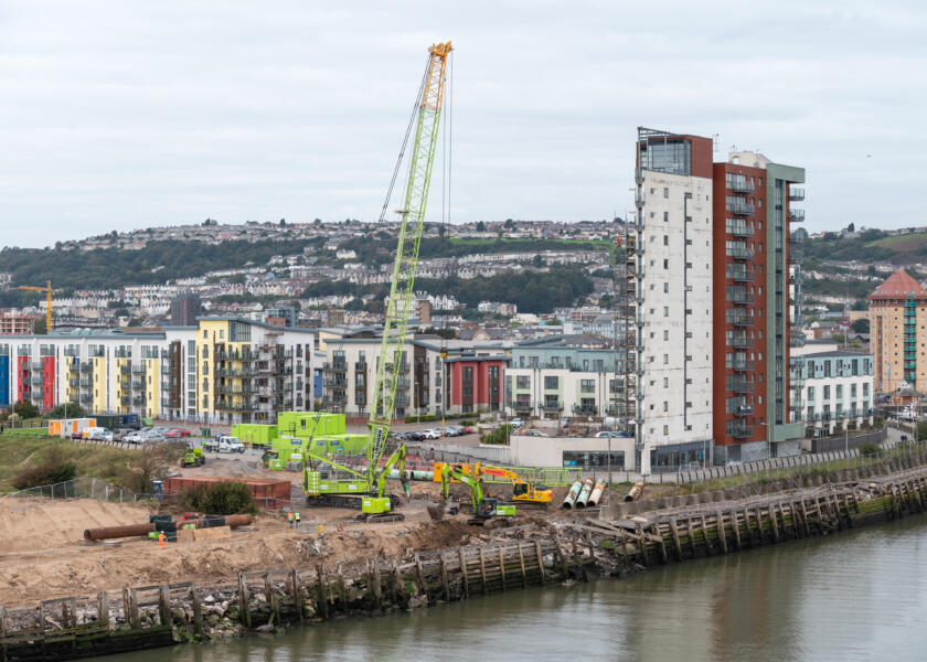 Construction begins on £10m Swansea West Pier repair